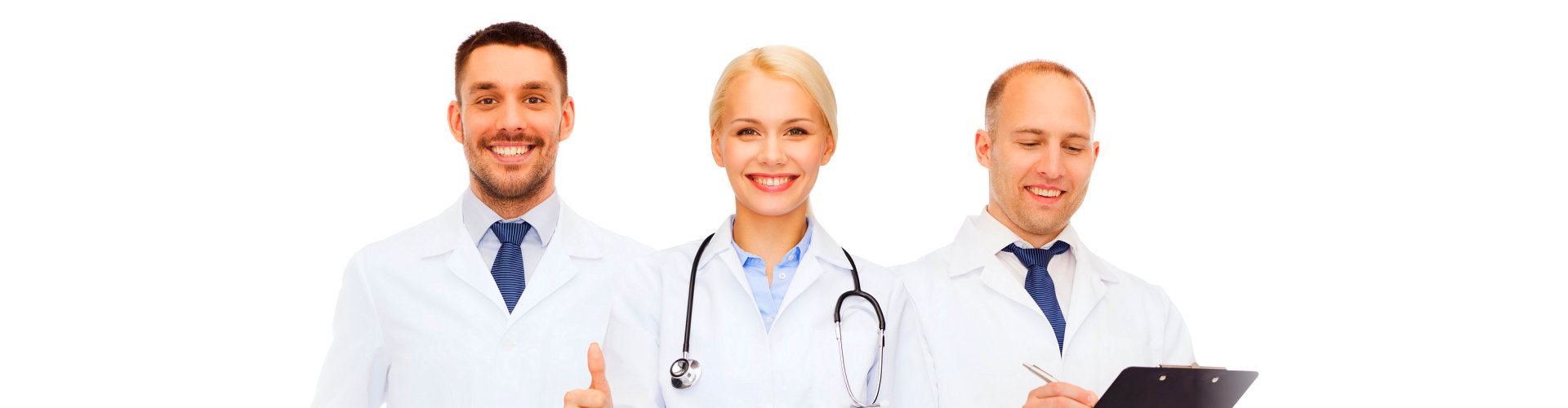 a group of doctors smiling